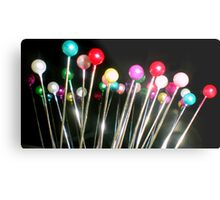 Coloured Pins Metal Print