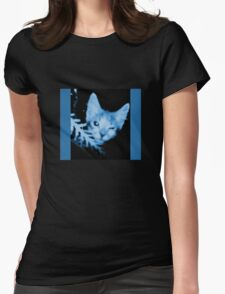 Blue Cat Blue Womens Fitted T-Shirt