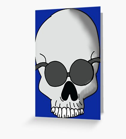 Sunglasses Skull  Greeting Card