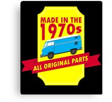 """""""Made in 1970s, All Original Parts"""" Collection #9100011 Canvas Print"""