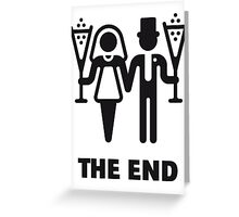 The End (Wedding / Marriage / Champagne / Black) Greeting Card