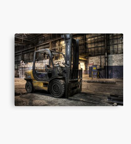 Fork off duty Canvas Print