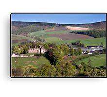 Balvenie castle & the Glen Fiddich distillery Canvas Print