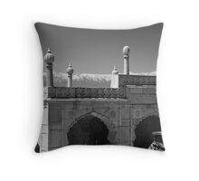 Spires and Mountains Throw Pillow