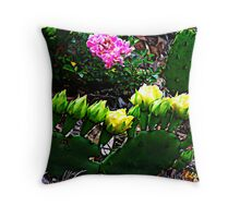 Cactus & Wild Rose 2 Throw Pillow