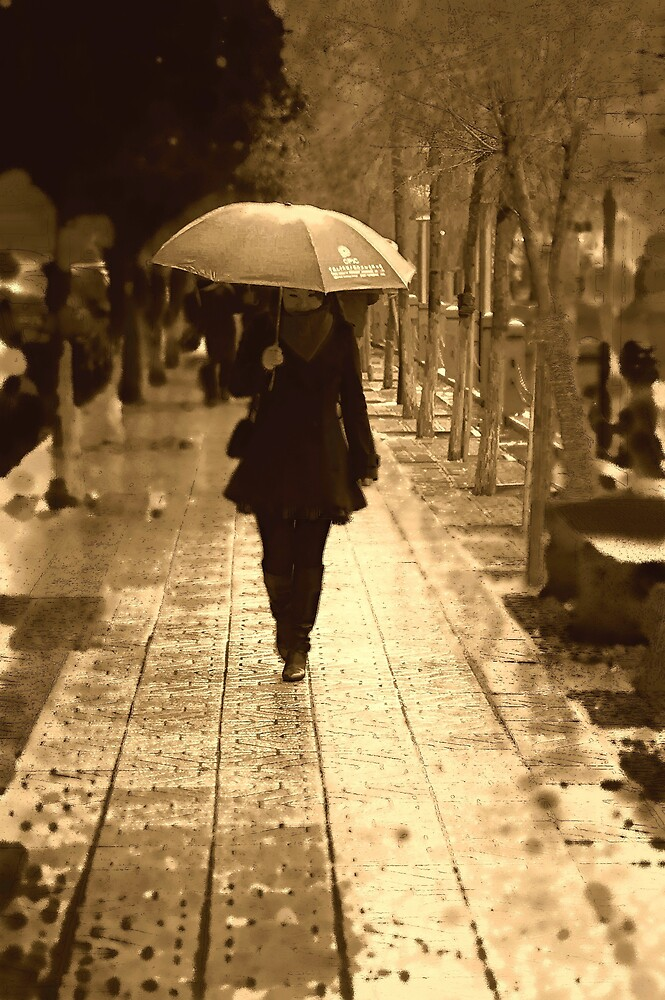 rainy day woman by marcwellman2000