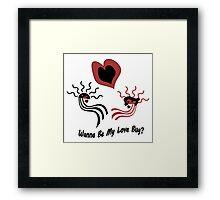 Wanna Be My Love Bug? Framed Print