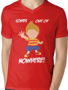 Lucas Comes out of nowhere! Mens V-Neck T-Shirt