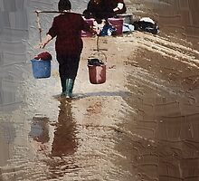 washing woman by marcwellman2000