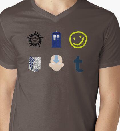 Fandom Collection Mens V-Neck T-Shirt