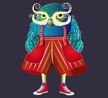 My Owl Red Pants Womens Fitted T-Shirt