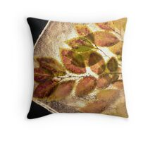 Leaves in the Ice #3 Throw Pillow