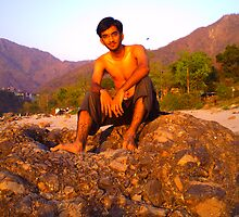 At Rishikesh...On the banks of the river Ganges... by HansBellani