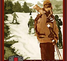 Mt Hood Ski Patrol Print by Randall Paul