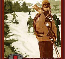 Mt Hood Ski Patrol Print by Randall Paul