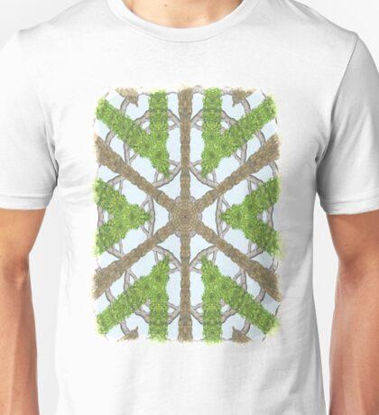 Bark Leaves Stone Kaleidoscope Art 1 Unisex T-Shirt