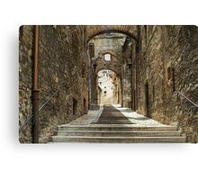 Narni - Cobbled Alley Canvas Print