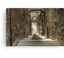 Narni - Cobbled Alley Canvas Print