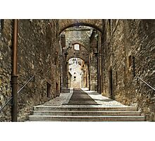 Narni - Cobbled Alley Photographic Print