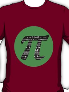 Pi Day graphic in green and black  T-Shirt