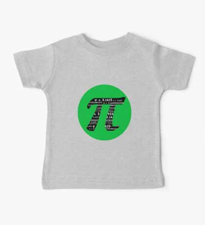 Pi Day graphic in green and black  Baby Tee
