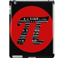 Pi Day graphic in red and black  iPad Case/Skin