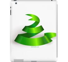 Green ribbon. Snake.  iPad Case/Skin