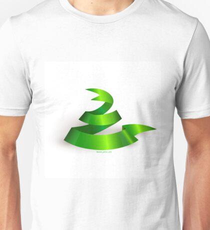 Green ribbon. Snake.  Unisex T-Shirt