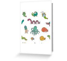 Happy Sea Monsters_ Multi Greeting Card