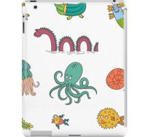 Happy Sea Monsters_ Multi iPad Case/Skin