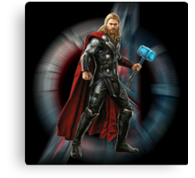 THOR - hammer glowing Canvas Print