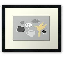 Cloudy Morning with Puzzles and Diamonds Framed Print