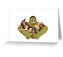 Avengers crazy art Greeting Card