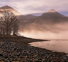 Misty Morning on Loch Duich, Scotland by OpalFire