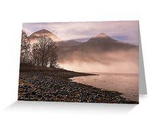 Misty Morning on Loch Duich, Scotland Greeting Card