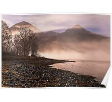 Misty Morning on Loch Duich, Scotland Poster