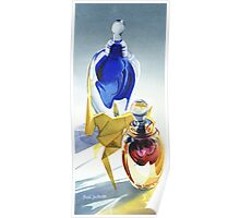 """""""Origami Glass"""" Watercolor Poster"""