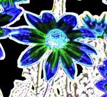 Flower pattern on black Sticker