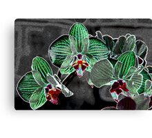 flowers on grey pattern Canvas Print