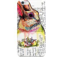 Rabbit Watercolor Journal iPhone Case/Skin