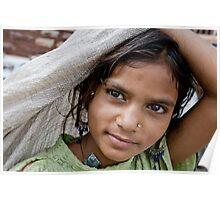 Girl in Jodhpur, India Poster