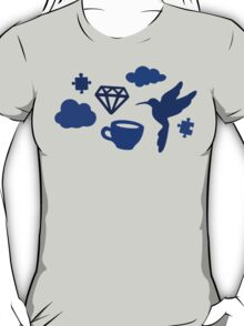 Morning Blues with Puzzles and Diamonds T-Shirt