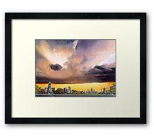 """Mizzou 1915"" Watercolor Framed Print"