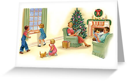 dick and jane family xmas by larry ruppert