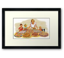 too many cookies Framed Print
