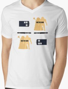 Doctor Who Pattern 1 Mens V-Neck T-Shirt