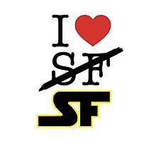 I <3 SF (Science Fiction) Photographic Print