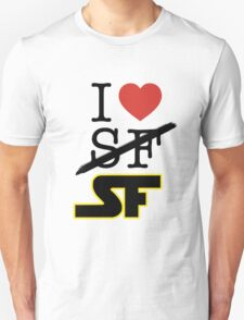 I <3 SF (Science Fiction) T-Shirt