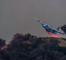 Water Drop on Calimesa Fire by photosbyflood