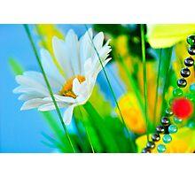 White Flower Ornament Photographic Print
